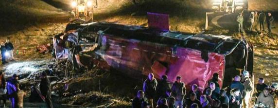 13 personas resultan muertas tras un accidente de autobús en Macedonia del Norte