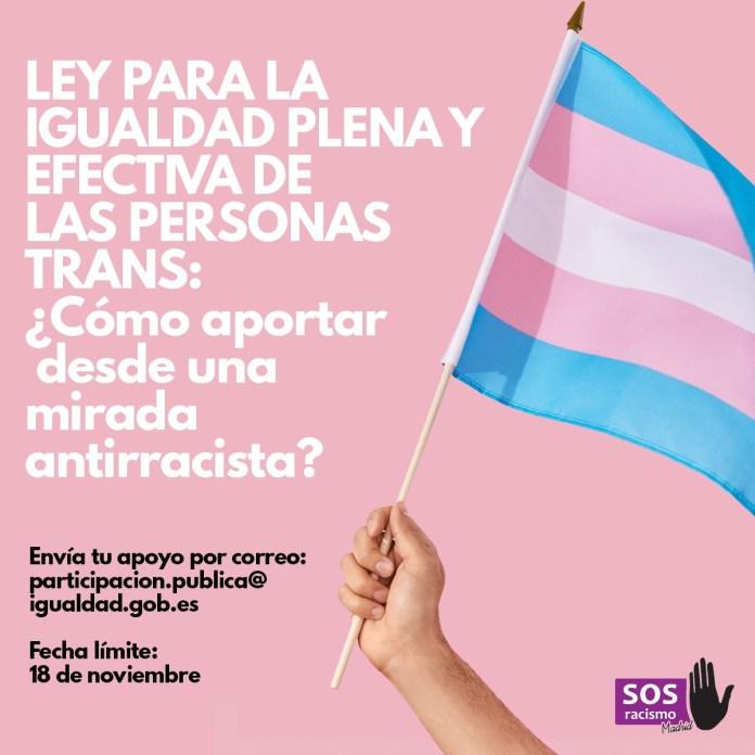 El Gobierno se suma a la lucha contra la transfobia