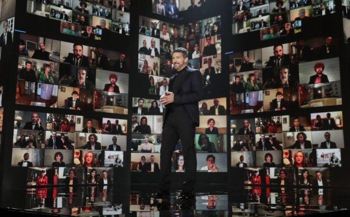 Antonio Banderas presentando los premios Goya   Fuente: Miguel Ángel Córdoba, El País