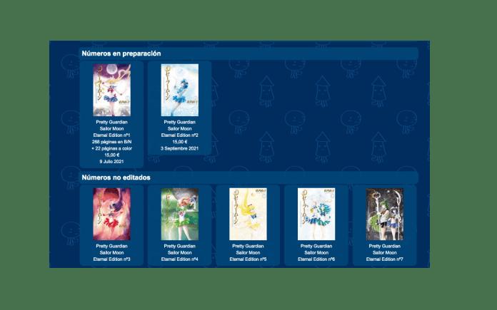 Números en preparación de Sailor Moon Eternal