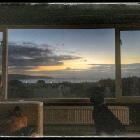 Sunset through a window - Pembrokeshire