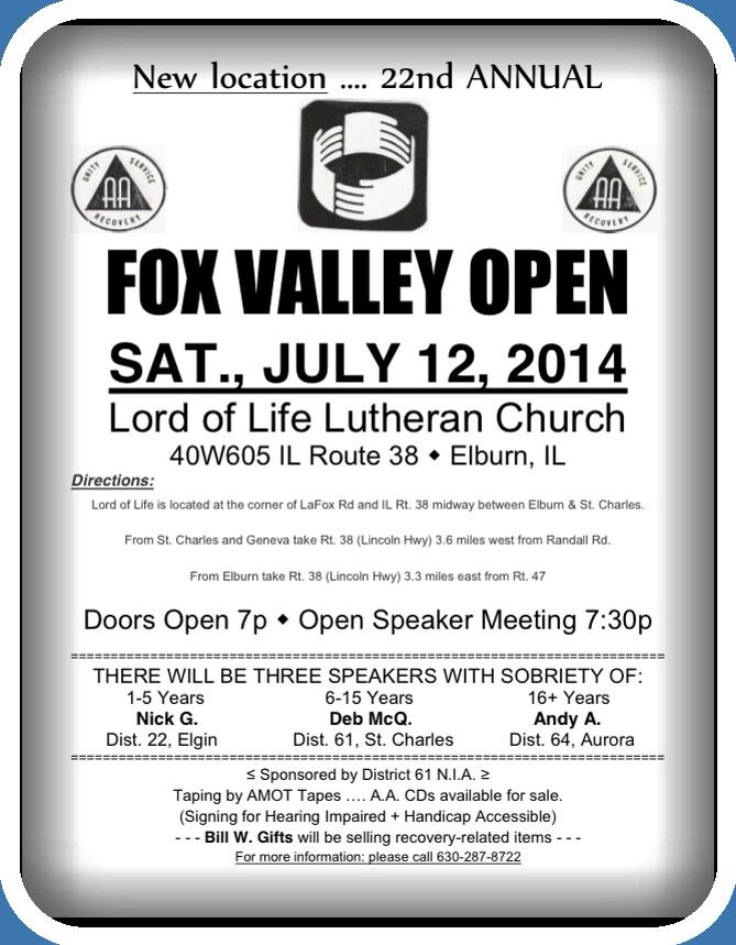 Fox Valley Open - Dist. 22 1