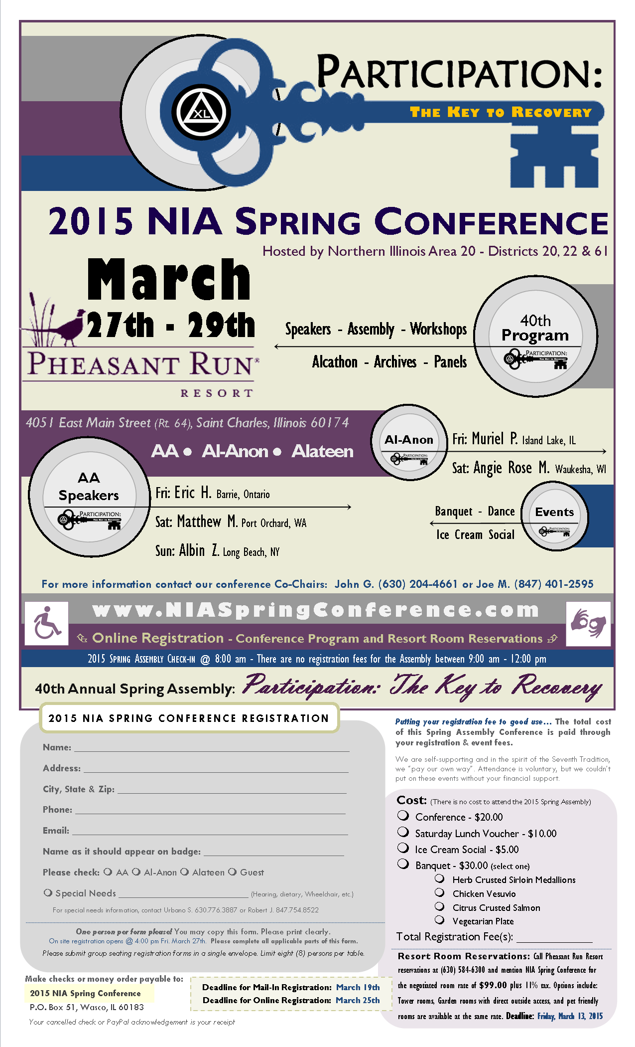 2015 NIA Spring Conference - Perception: The Key to Recovery 1