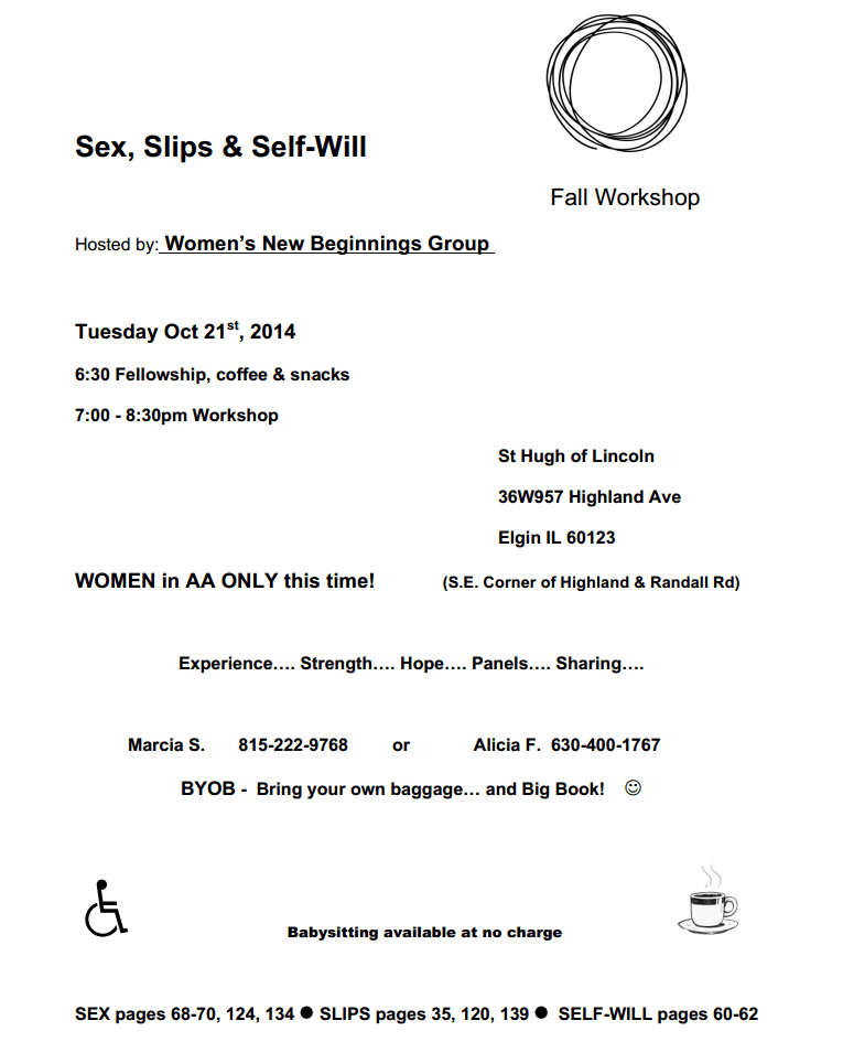 Women's Workshop: Sex, Slips and Self-Will 1