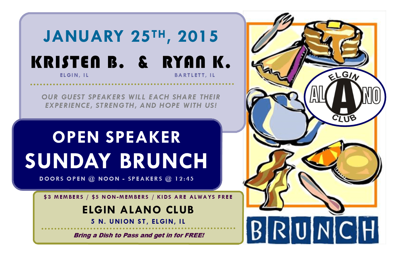 "Sunday ""Open Speaker"" Brunch - Kristen B. and Ryan K. 1"