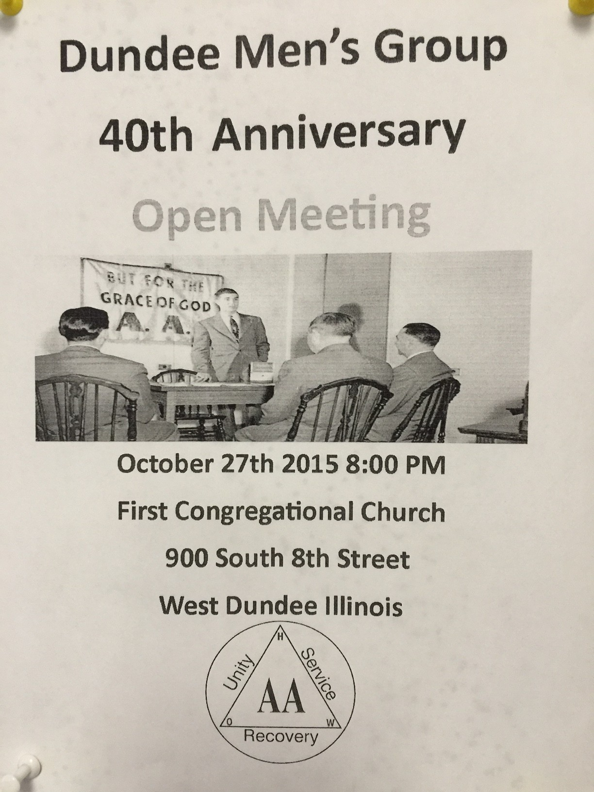 Dundee Men's Group 40th Anniversary 1