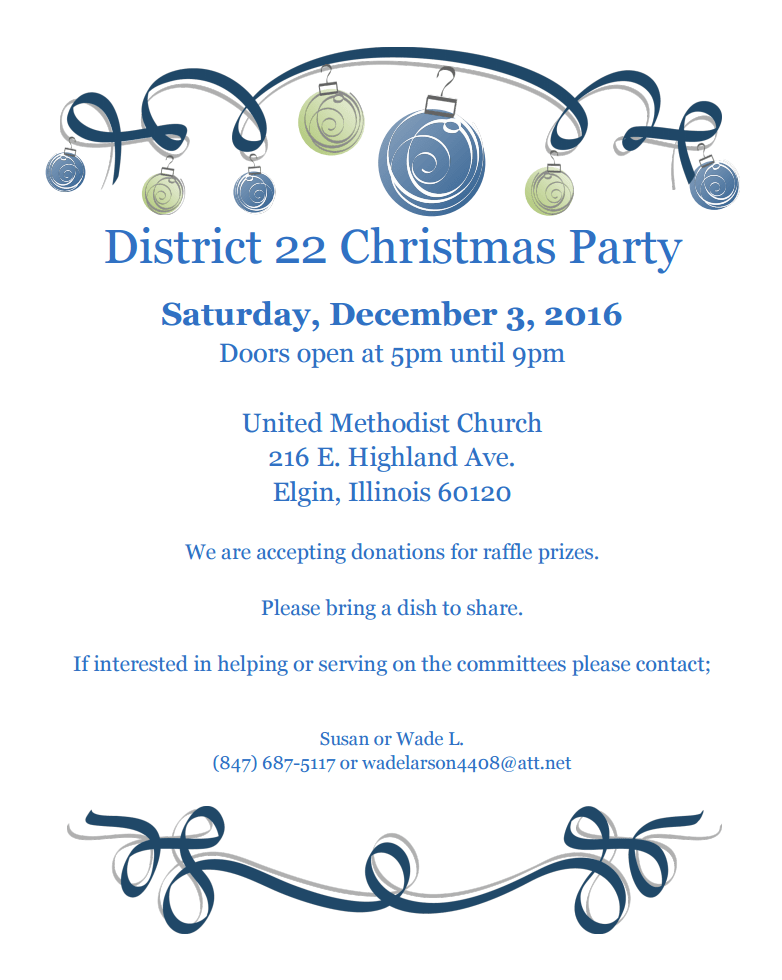 District 22 Christmas Party - 12.3.2016 1