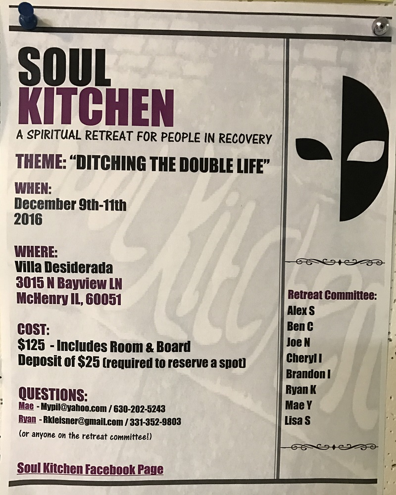 Soul Kitchen - Spiritual Retreat for People in Recovery 1