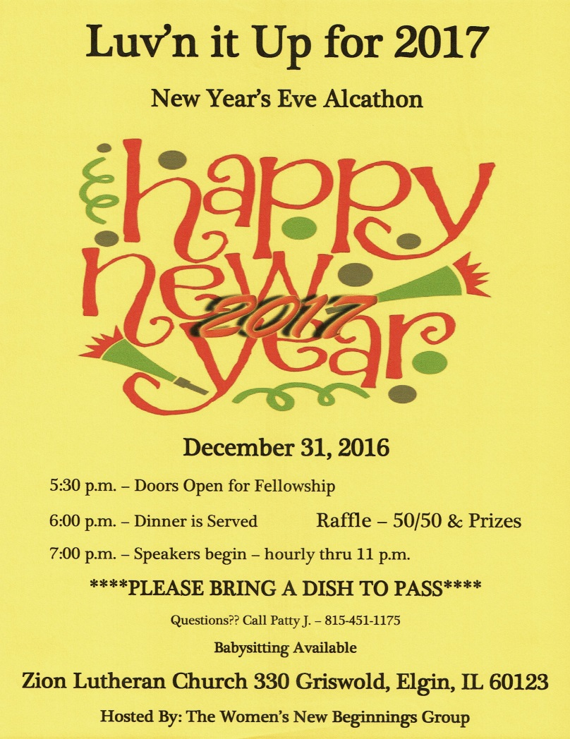 New Years Eve Alcathon - Luv'n it Up for 2017 1