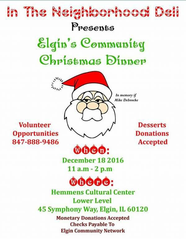Elgin's Community Christmas Dinner 1