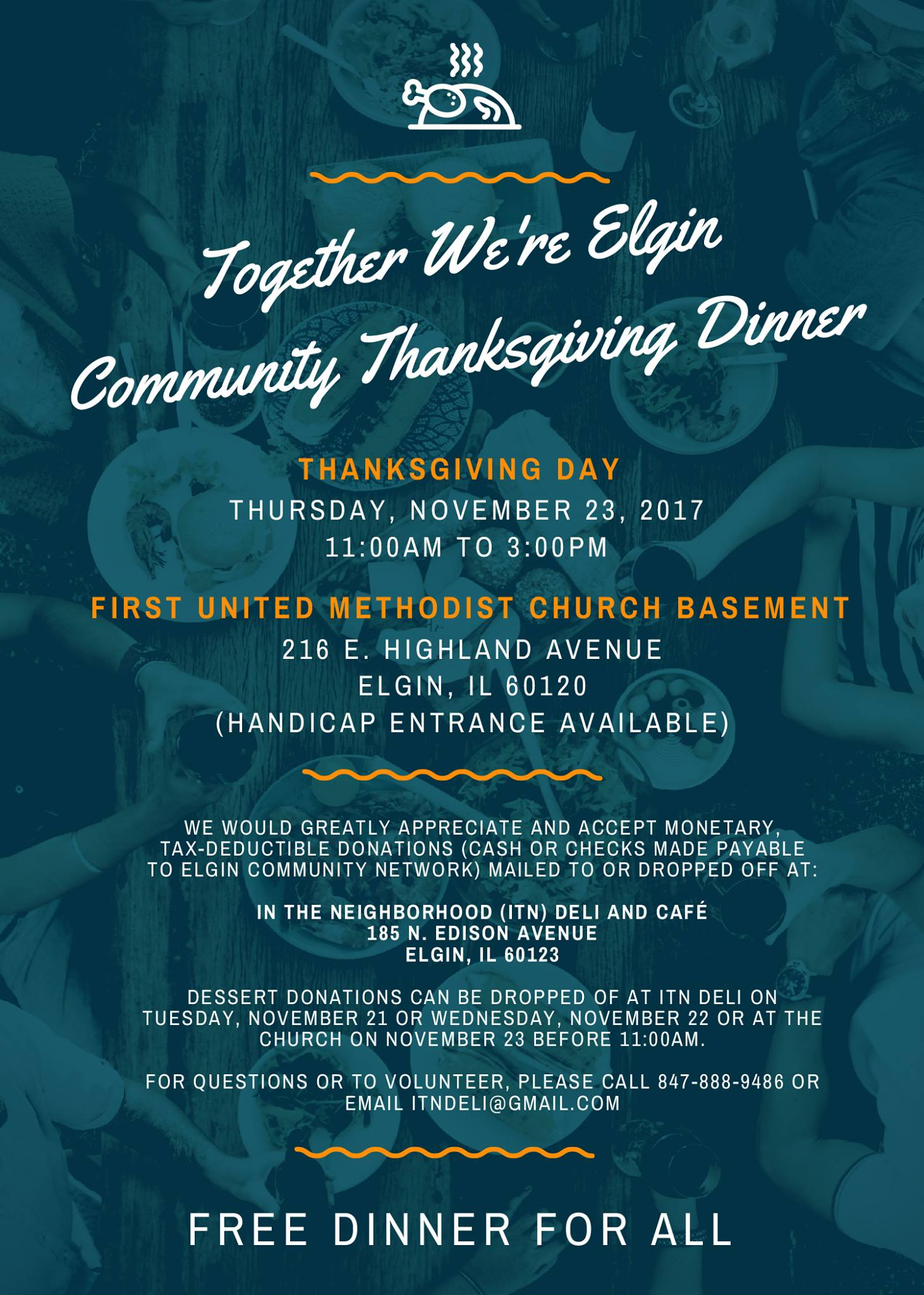 Elgin Community Thanksgiving Dinner 1