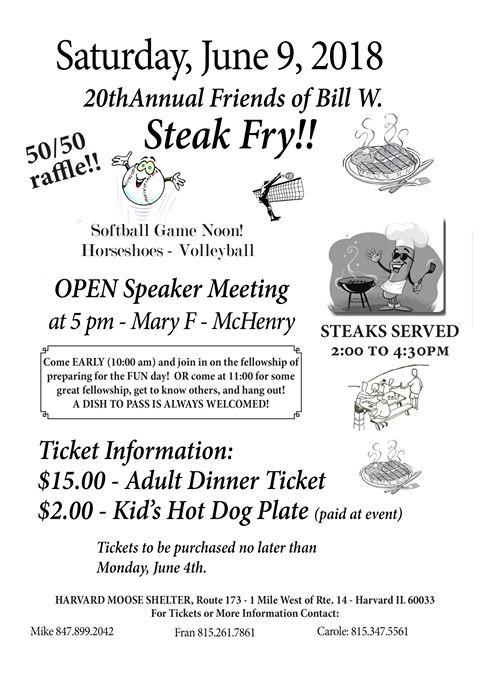 20th Annual Friends of Bill W. Steak Fry 1