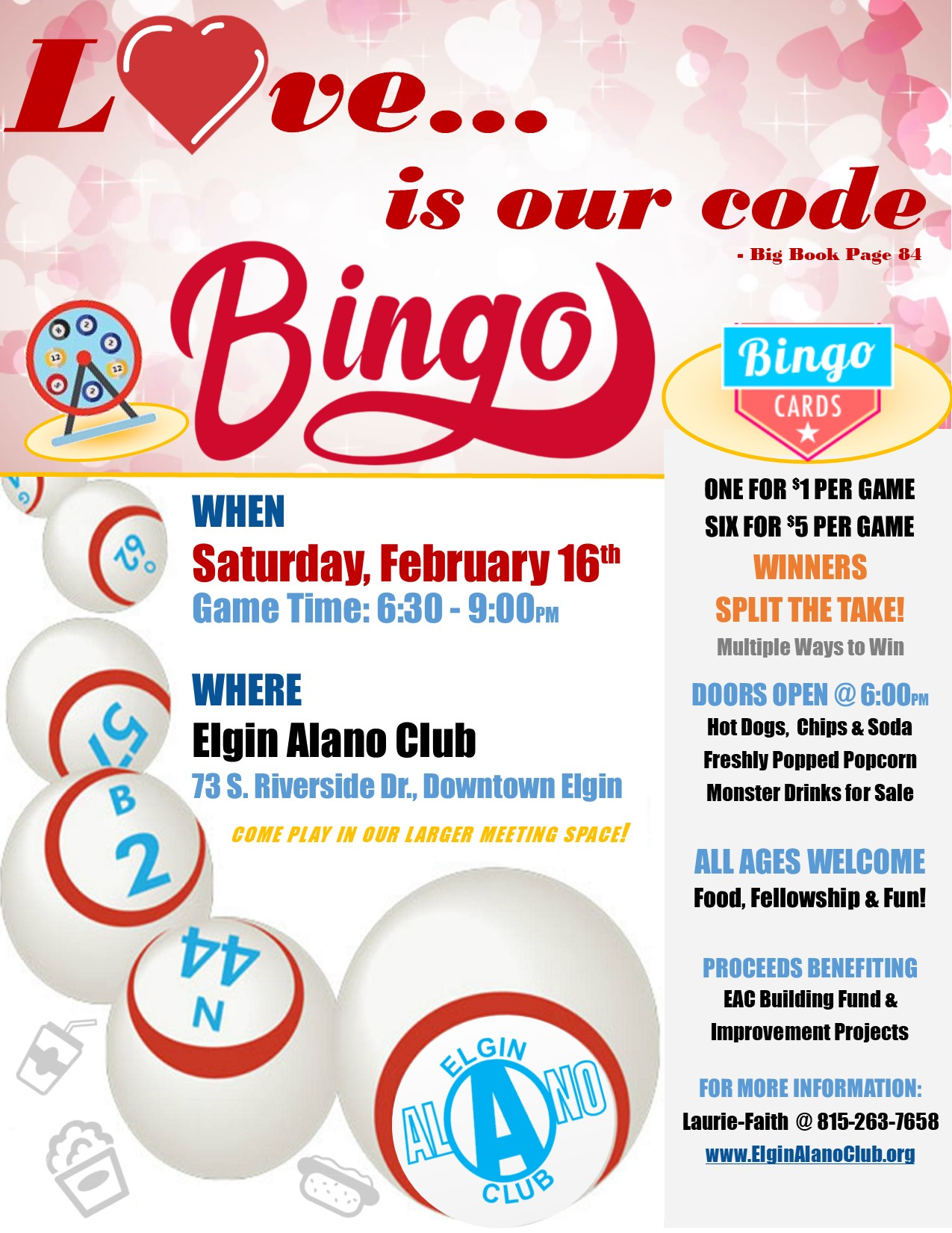 Love is our Code BINGO Night 1