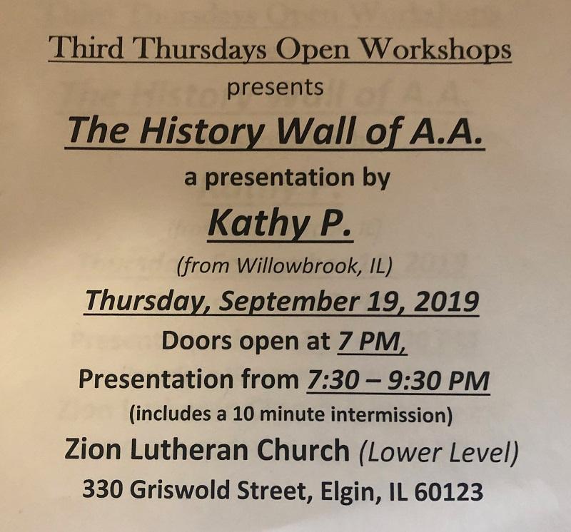 History Wall of AA Workshop 1