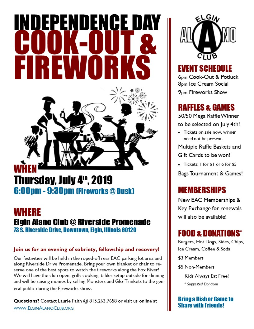 2019 Independence Day Cook-Out & Fireworks