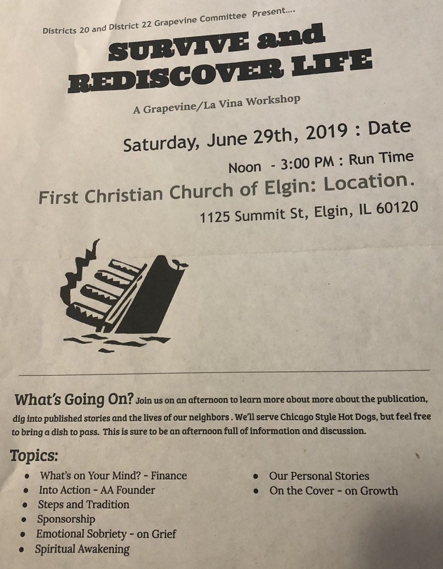 Survive and Rediscover Life Workshop 1