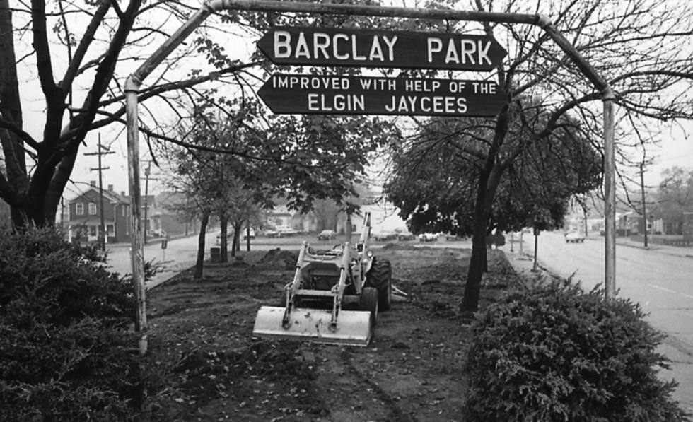 Barclay Park under construction