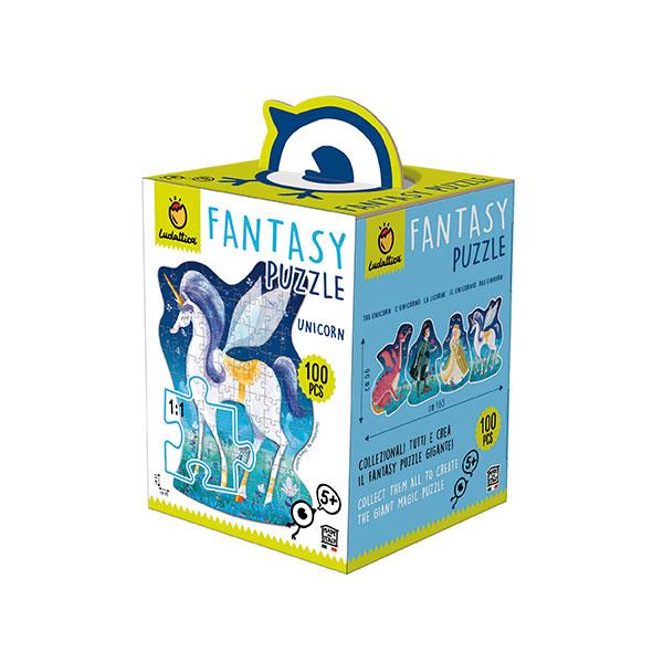 Fantasy puzzle unicornio