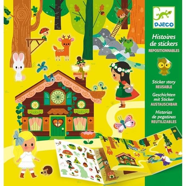 Crea historias con pegatinas bosque