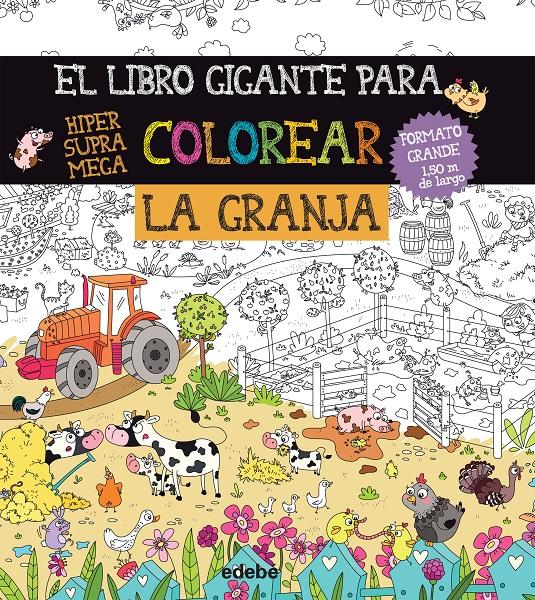 Poster de la granja para colorear