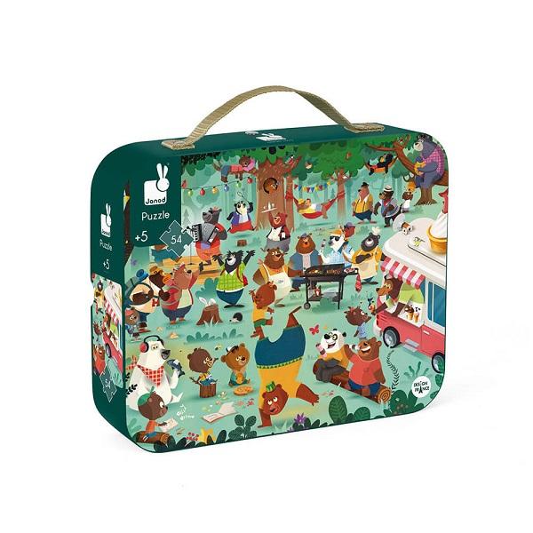 Puzzle maletin la familia oso Janod