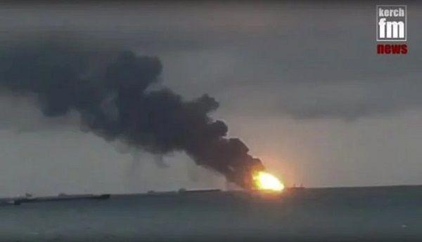 Rusia: 2 barcos se incendian en el Mar Negro, 14 muertos