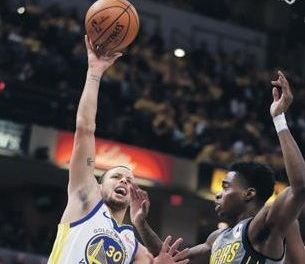Curry lidera el ataque Warriors sobre Indiana
