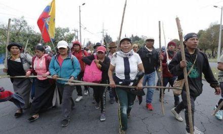 Recrudecen protestas indígenas en Ecuador