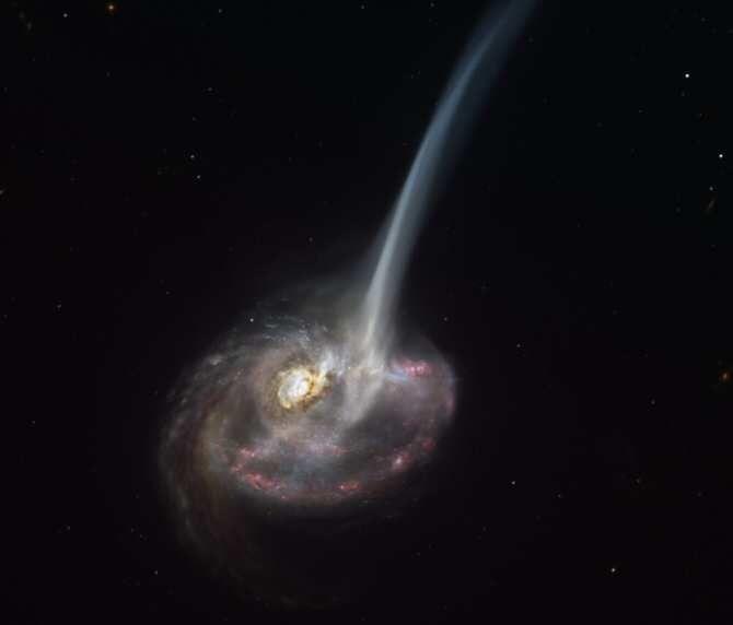 El ALMA capta el proceso de muerte de una distante galaxia que pierde la capacidad de formar estrellas