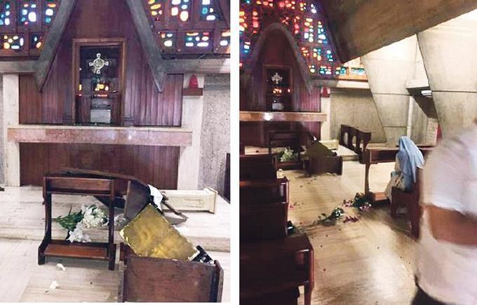 Ocurre otra profanación en una iglesia de la Capital