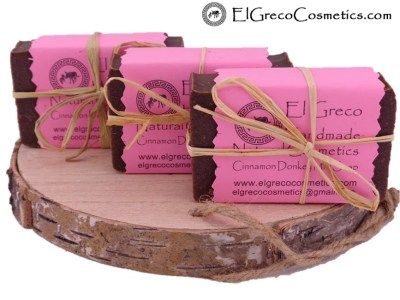 3 pack Cinnamon Donkey milk Soap