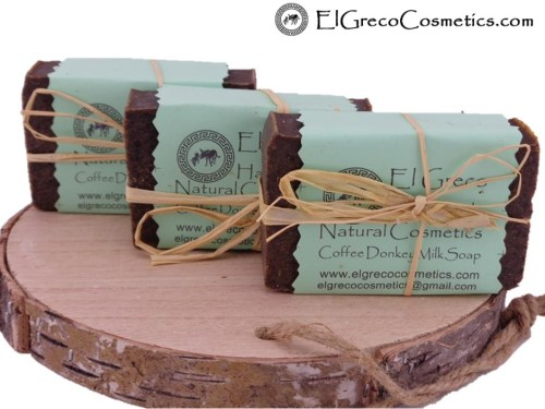 3 pack Coffee scrub Donkey milk Soap
