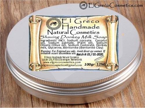 Natural Shaving Donkey Milk Soap_01