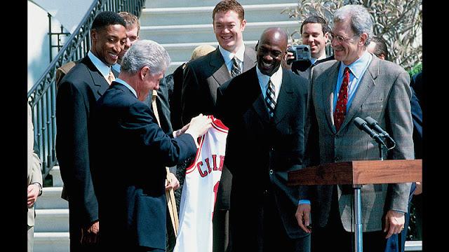 Clinton,Jackson, Jordan y Pippen
