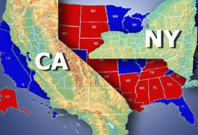 California y Nueva York