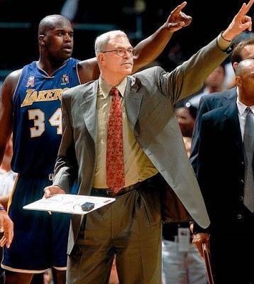 Shaquille O'Neal y Phil Jackson