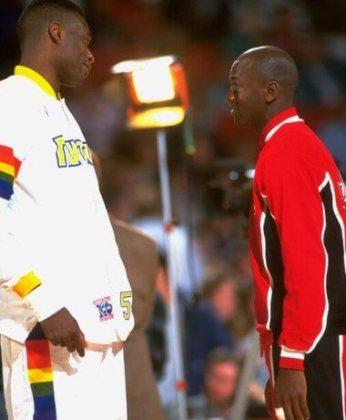 Mutombo y Jordan