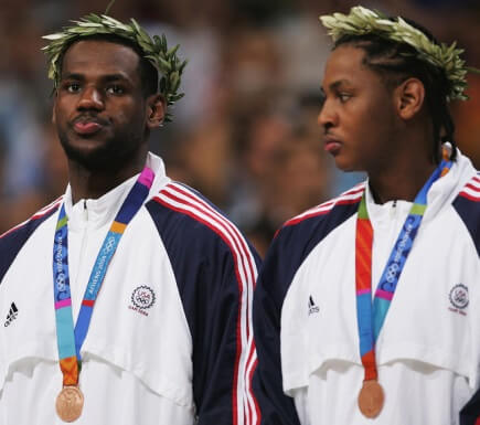 Lebron James y Carmelo Anthony