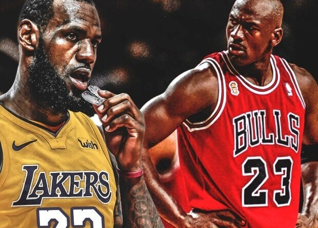 Michael Jordan y Lebron James 2