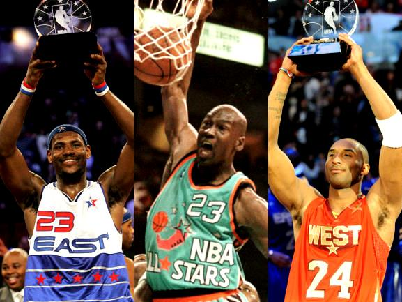 Jordan Kobe Lebron All Star