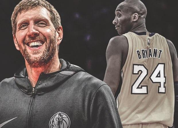 Dirk Nowitzki y Kobe Bryant loa últimos románticos