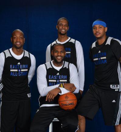 Bosh, Wade, Lebron y Carmelo