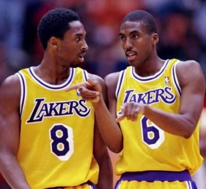 Eddie Jones y Kobe Bryant