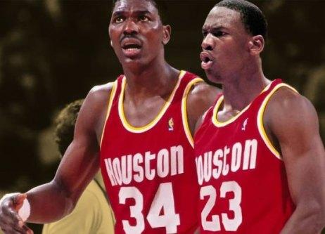 1984 Jordan Olajuwon rockets