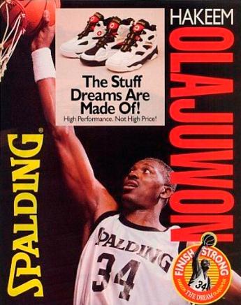 """Cartel publicitario de la línea """"The Dream"""" de Spalding"""