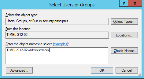 Add the local administrators group to SQL Server administrators (5/6)