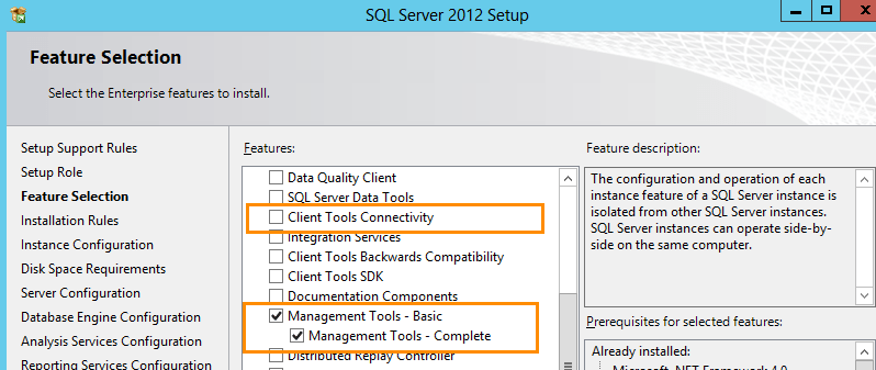 SQL Server 2012 Installation for Team Foundation Server (5/6)