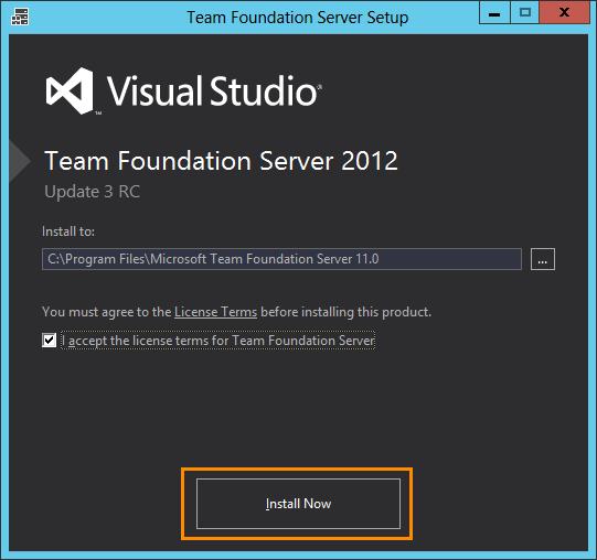 Install Team Foundation Server 2012 (1/6)