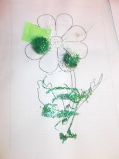 A green daisy!