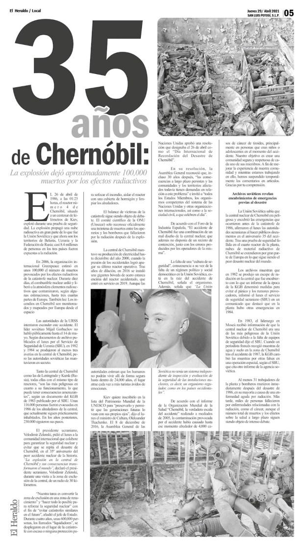 35 años de Chernóbil